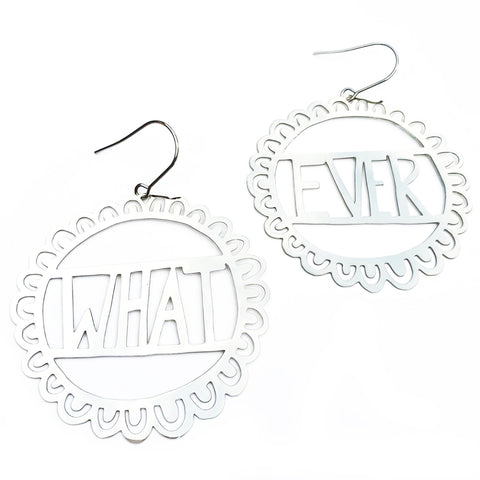 denz & co. earrings 'whatever dangles' silver