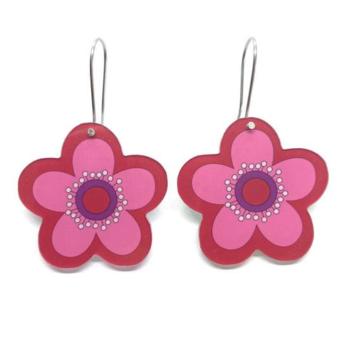 smyle designs earrings 'retro flower' pink