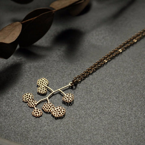 MOORIGIN 'BLACK BERRY' PENDANT NECKLACE GOLD XS