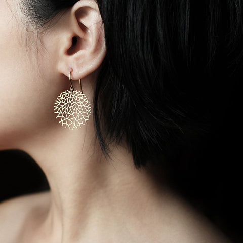 moorigin earrings 'woods' gold small