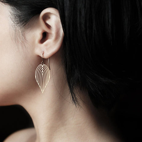 moorigin earrings 'leaf' gold small