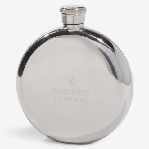 izola hip flask 'three sheets to the wind' 5 oz - the-tangerine-fox