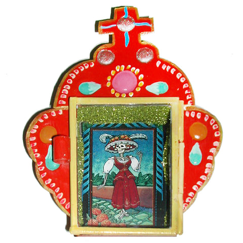 mexican tin nicho 'day of the dead frame'