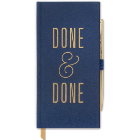 designworks ink. skinny notebook w/pen 'done & done'