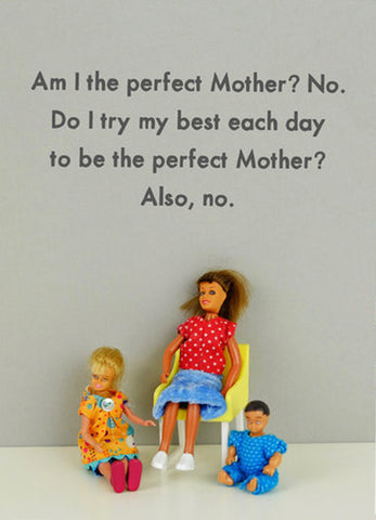 jeffrey & janice greeting card 'perfect mother?'