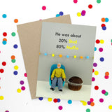 jeffrey & janice greeting card 'stud muffin'