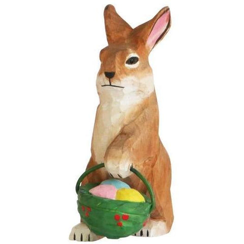 dttw figurine 'wooden bunny with eggs' - the-tangerine-fox
