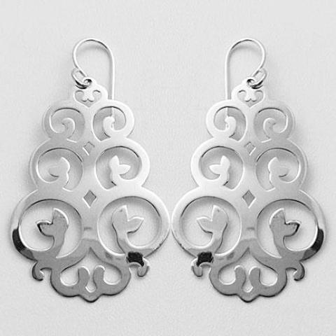 gammies earrings 'leafy curls' drops