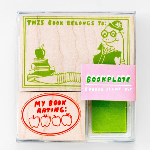 yellow owl workshop stamp kit 'bookplate'