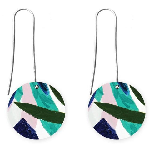 moe moe earrings 'hero kate mayes circle long drops'
