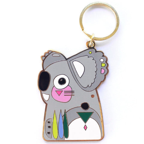 PETE CROMER 'KOALALA' ENAMEL KEY RING