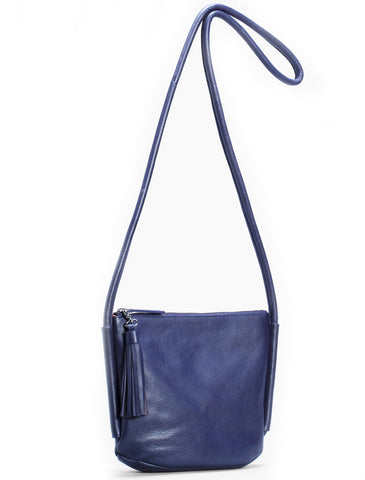 elk bag 'forbi' iris blue & orange small - the-tangerine-fox