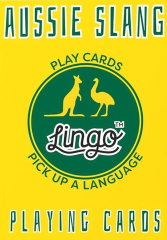 ginger fox game 'lingo playing cards aussie slang'