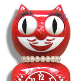 kit-cat lady clock 'scarlet'