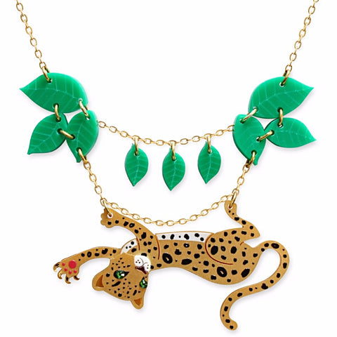 little moose necklace 'leopard leaf'