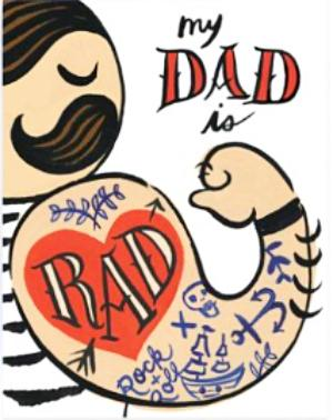 idlewild co. greeting card 'rad dad'