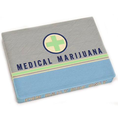 blue q pocket box 'medical marijuana' green