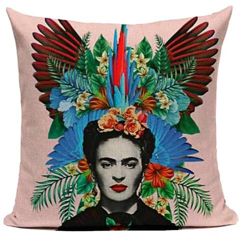 cushion cover 'frida mirror image floral'