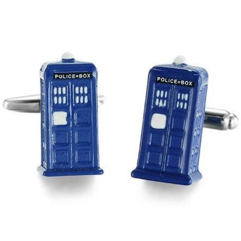 cufflinks 'dr who tardis'