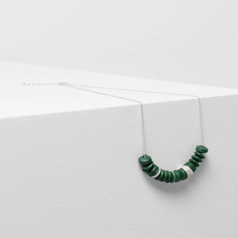 elk necklace 'lerum' spinach & silver