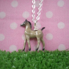 meow girl necklace 'ceramic colt' grey