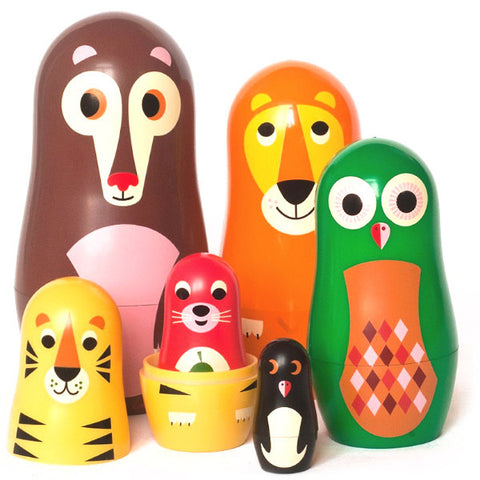 OMM DESIGN NESTING DOLLS 'ANIMALS SERIES 1'