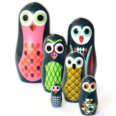 omm design nesting dolls 'pocket owls'