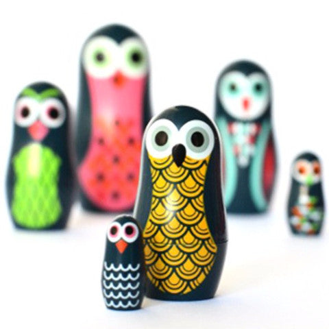 omm design animal nesting dolls 'pocket owls' - The Tangerine Fox