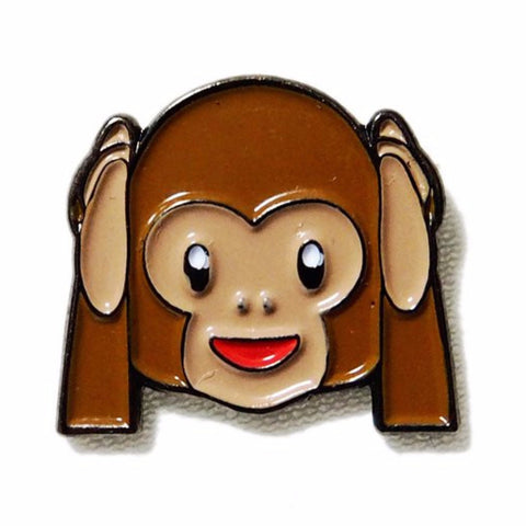 PINDEMIC 'HEAR NO EVIL MONKEY EMOJI' ENAMEL PIN