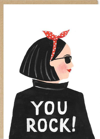 jade fisher greeting card 'lrg you rock'