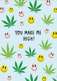ahd paper co. greeting card 'you make me high'