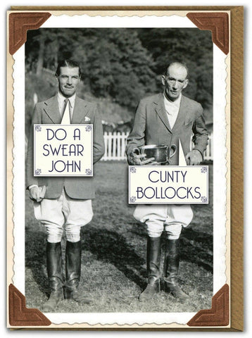 brain box candy greeting card 'c*nty bollocks'
