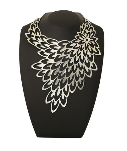 doury necklace 'peacock' silver