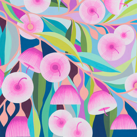 claire ishino ltd edition art print 'pink gum' A4