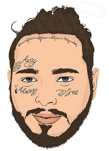 pro and hop air freshener 'post malone bun' - the-tangerine-fox