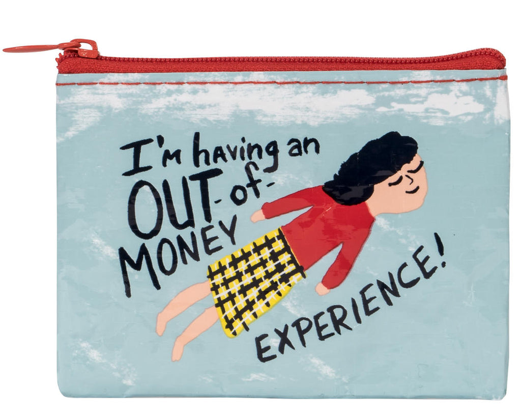 blue q coin purse 'out of money experience'