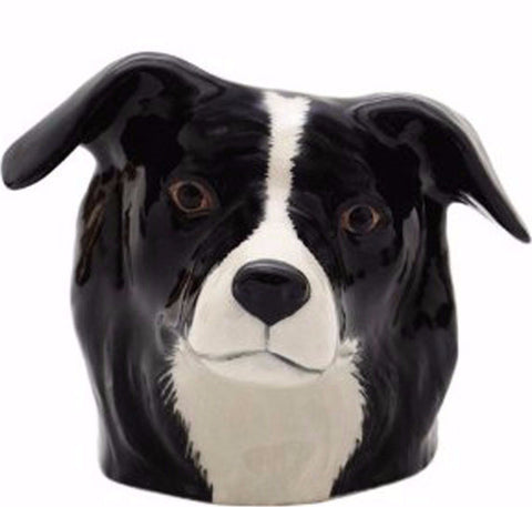 QUAIL CERAMICS FACE EGG CUP BORDER COLLIE