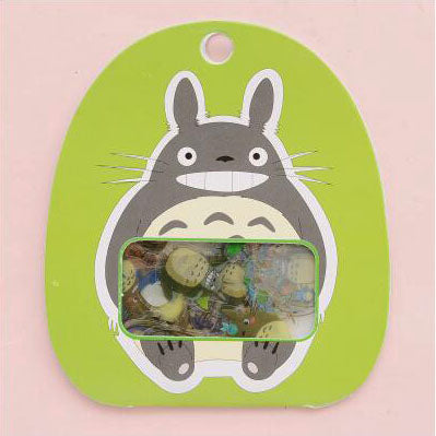 totoro stickers '60 pack pouch' green