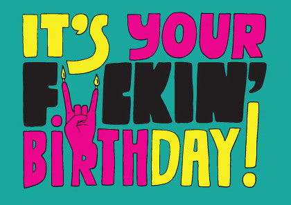 AHD 'F@CKING BIRTHDAY' GREETING CARD