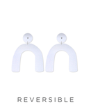 moe moe earrings 'reversible sky joan arch drop studs'