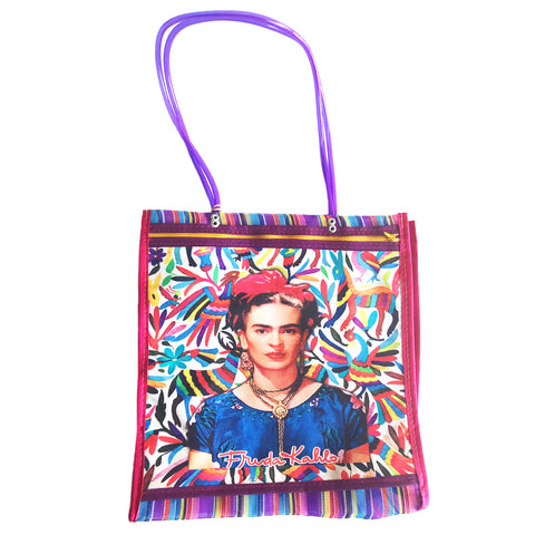 mexican tote bag 'mesh mercado frida' narrow