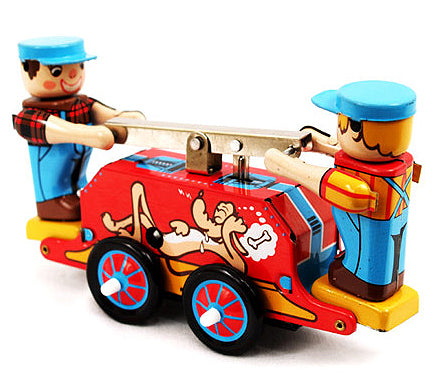retro tin toy 'railway work car'