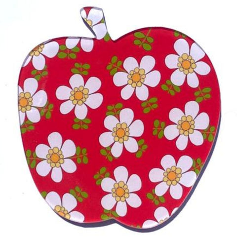 smyle designs brooch 'apple' red blossom