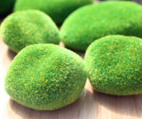 miniature 'grassy mound' faux moss pebble