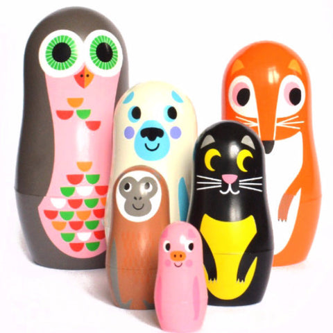 OMM DESIGN NESTING DOLLS 'ANIMAL SERIES 2'