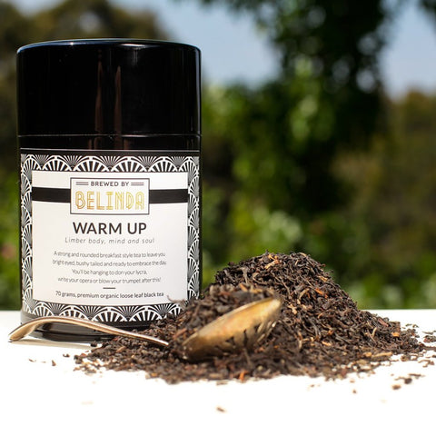 brewed by belinda warm up tea canister