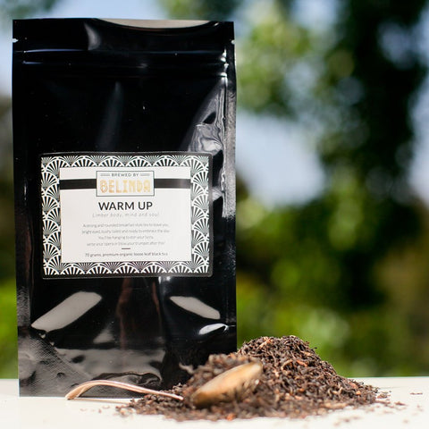 brewed by belinda warm up tea pouch