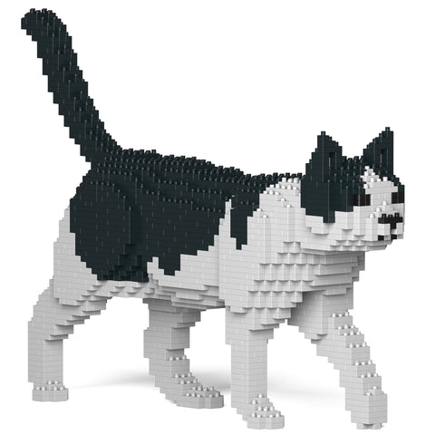 jekca kit 'cat walking' black & white - the-tangerine-fox