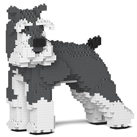 jekca building blocks kit 'standard schnauzer'