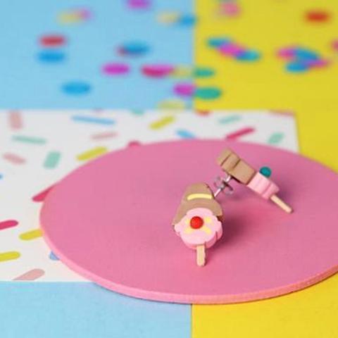 saturday lollipop earrings 'bubble-o bill' studs